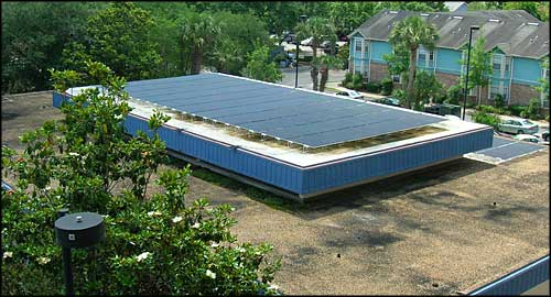 Photovoltaic generating panels on a rooftop